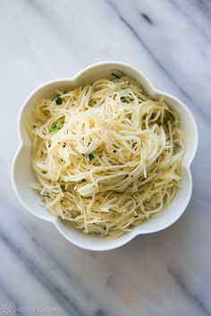 Angel Hair Pasta with Garlic, Herbs, and Parmesan Recipe | Simply Recipes