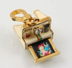 Juicy Couture Polaroid Camera Charm