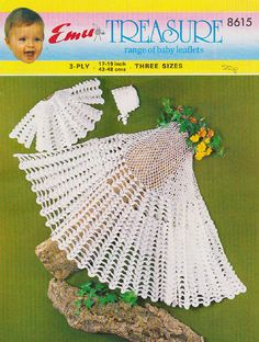 Items similar to PDF Vintage Baby Christening Crochet Pattern, Layette Blanket Shawl Pretty Lacy Emu 8615 Matinee Baby Doll Heirloom, Shells, Reborn, Retro on Etsy Vintage Crochet Patterns, Vintage Knitting, Baby Knitting Patterns, Baby Patterns, Doll Patterns, Baby Shawl, Blanket Shawl, Baby Cardigan, Crochet Shawl