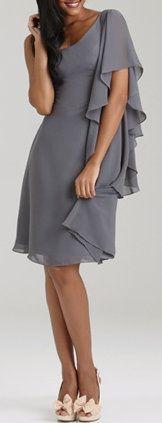 Allure One-shoulder Chiffon Dress