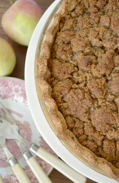 Make ahead Crumb-Topped Apple Pie bakes from frozen