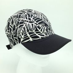 Lululemon Banana Leaf Race Run Hat Black White Print Running Fitness Workout Cap  | eBay