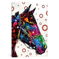 iCanvas Lonely Horse Gallery Wrapped Canvas Art Print by Dean Russo
