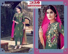 SALE! SALE! SALE! Pure Cotton Satin Party Wear Punjabi Suits  Visit : https://www.facebook.com/zikimofashion Visit : http://www.zikimo.com