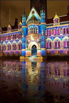 Festival lights Lyon France