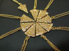 Pizza friendship necklace.