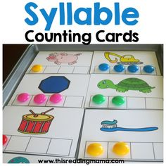 FREE Syllable Counting Cards from This Reading Mama