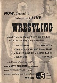 Photo by Gordon Clow New York Studio, Tv Station, Thats The Way, Tv Guide, Classic Tv, Nostalgia, Channel, Bring It On, Wrestling