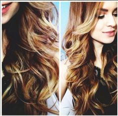 Beautiful light blonde on dark color with face framing long layers.