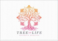Logo Sold: Mandala tree logo created with intricate detailed tree branches and tree roots. The branches of the tree are designed to create the shape of a mandala design that encompasses the tree. Unique twisting roots create a dynamic and distinctive look. The entire piece is bold and powerful in both design and message.