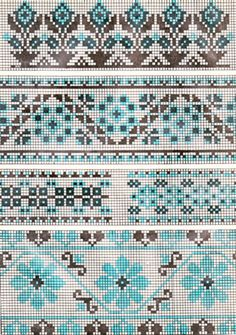 Vintage cross stitch borders. Use for either stitching or knitting.