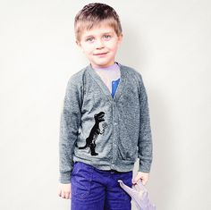 Cardigan Sweater Toddler Cardigan Dinosaur Dinosaur by Westmama, $30.00.... for Liam