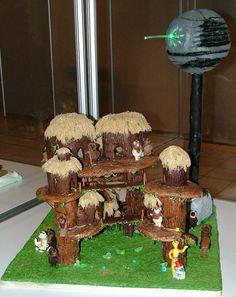 gingerbread ewok diorama