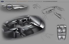 Ford 2025 Interior Concept:A super car for a dual premium demographic (Couples with no kids) with a combination of ford sportiness and premium design.