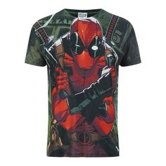 Marvel Men's Deadpool Dollar T Shirt White L