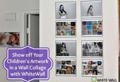 Show off Your Childrens Artwork in a Wall Collage with WhiteWall
