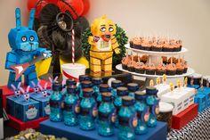 Decoração para tema FNAF - DESIGN5 Festas - linha completa de itens incríveis para você montar a sua festa, do jeito que você imaginar !