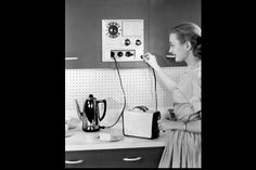 The Original Multi-Tasker    With its multiple outlets and built-in clock, the Westinghouse Automatic Appliance Center was the perfect helper for the new generation of small electrical appliances that were all the rage in the late 1950's—toasters, coffee pots, and the indispensible fry pan.