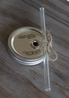 Wide Mouth Mason Jar Cup Lid with Clear Glass Straw