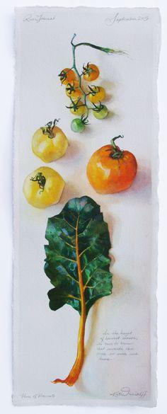 Katie Musolff, HUES OF HARVEST, Watercolor on Paper
