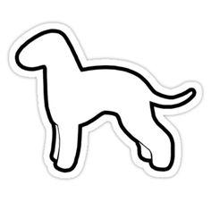 Bedlington Terrier Silhouette Waterproof Die-Cut Sticker