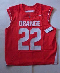 NWT Nike Men's Polyester Size L Syracuse Orange Sleeveless Lacrosse Jersey #22 #Nike #SyracuseOrange