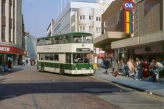 """It's like a graveyard of shops in one photo. Woolies, C&A, Binns. Retro Pictures, Old Pictures, Blackpool England, Preston Lancashire, London Transport, Light Rail, Roller Coaster, Great Britain, Great Places"