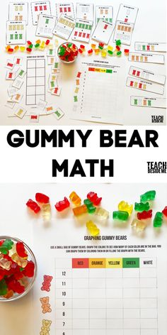 Get kids excited about their manth lesson with this gummy bear math printable set! This incorporates graphing, patterns, and addition. Creative Activities For Kids, Creative Teaching, Toddler Activities, Teaching Ideas, Blank Bar Graph, Homeschool Math, Homeschooling, Math Patterns, Bar Graphs