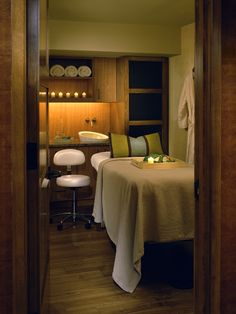 Spa Treatment Room- Great colors. Very cozy and relaxing.