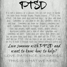 PTSD... No one understands this at all.