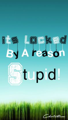 Its locked by A reason stupid