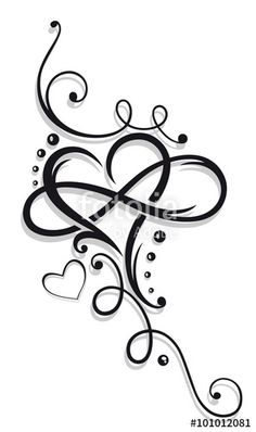 Tribal Heart with large infinity loop.Tribal Heart with large infinity loop. Name Tattoos, Wrist Tattoos, Body Art Tattoos, Sleeve Tattoos, Tattoo Hip, Cross Foot Tattoos, Tribal Heart Tattoos, Tribal Tattoos For Women, Knot Tattoo