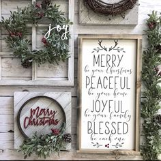 Merry christmas, christmas decor #christmas #holiday #seasonal #farmhouse #rustic #homedecor #signs #quotes #farmhousestyle #affiliate #ss
