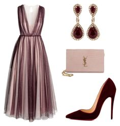 """Untitled #124"" by hallierosedale ❤ liked on Polyvore featuring H&M, Christian Louboutin, Yves Saint Laurent and Effy Jewelry"