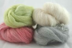 4 Scrummy New Colours of Brushed Mohair and Silk from wwhistlebare.co.uk