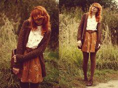 Pull&Bear Sweater, Sinsay Shirt, Massimo Dutti Skirt, Pull&Bear Oxfrds, Vintage Bag