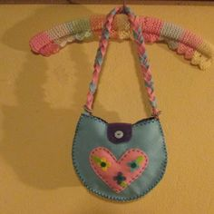 """#felt handbag, blue and pink, every little girl want one of these"""""""