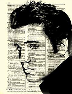Elvis Dictionary Art Print Dark Elvis by reimaginationprints, $10.00