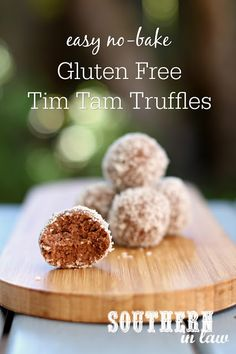 These Easy Tim Tam Truffles are the perfect last minute Australia Day dessert recipe. Quick and easy to make, these no bake treats can also be gluten free and vegan and take just minutes to make. Three ingredients are all you'll need - tim tams, cream cheese and coconut (or you can dip them in chocolate!).