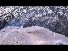 Impresionantes imágenes del cráter del Volcán de Colima - YouTube