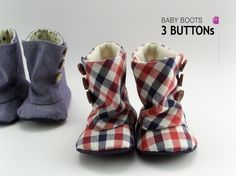 Baby 3 Button Boots PDF Pattern
