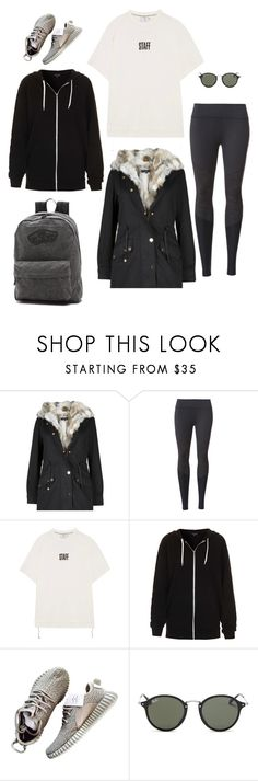 """M"" by butnotperfect ❤ liked on Polyvore featuring Beyond Yoga, Vetements, Topshop, Ray-Ban and Vans"