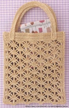 Crochet bags the creative world bags creative crochet world Sacs au crochet - Le monde-creatif - My WordPress Website I love all these types of bags they are showing and whats great are the endless ideas using vintage crocheted items that are are no longe Crochet Cable, Crochet Shell Stitch, Crochet Tote, Crochet Handbags, Crochet Purses, Crochet Stitches, Crochet Patterns, Pouch Pattern, Purse Patterns