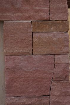 Dry-laid Rose Flagstone Detail | Entry Monument | Boulder, Colorado | by Prolithic Designs