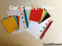 Car Colors: Walk for toddlers by  Bambini Travel. A simple and fin activity for families.