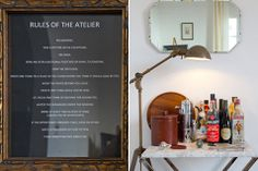 Love the lamp over the barcart. Must remember this idea!  The John Saint-Denis Atelier (Hancock Park, CA)