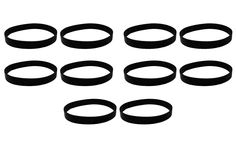 10 Hoover Elite Rewind Vacuum Belts Compare to Part # 40201190, 38528040