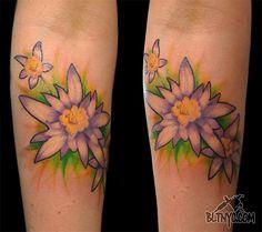 Flower Tattoo by Nasa  #tattoo #flowertattoo #colortattoo #tattoosforgirls #cutetattoos