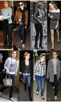 Look da semana + Estilo: Emma Watson Emma Watson Outfits, Emma Watson Style, Emma Style, Emma Watson Casual, Ossie Clark, Casual Street Style, Preppy Style, Christopher Kane, Charlotte Olympia