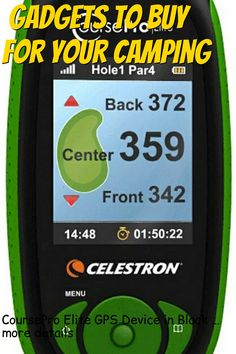 (This is an affiliate pin) CoursePro Elite GPS Device in Black